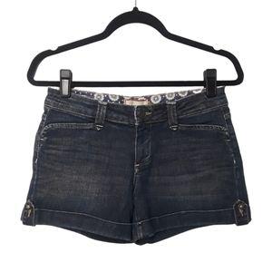 Paige Hillhurst Rolled Cuff Denim Shorts 26